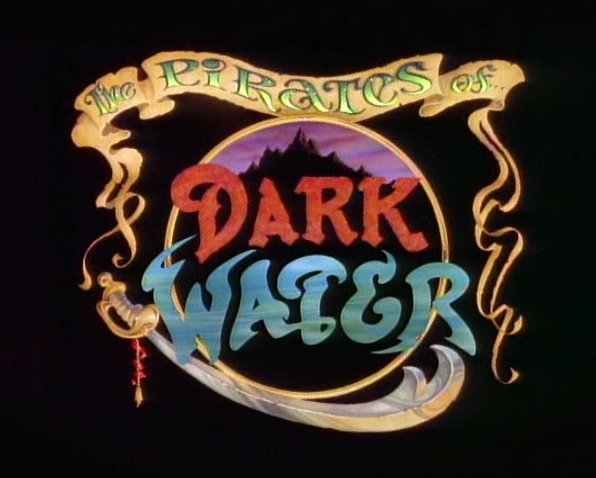 Screenshot of the Pirates of Dark Water logo from the show's opening sequence.